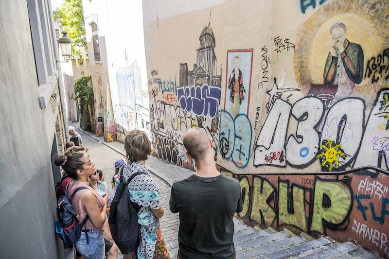 Bruxelles visite guidée Marolles street art