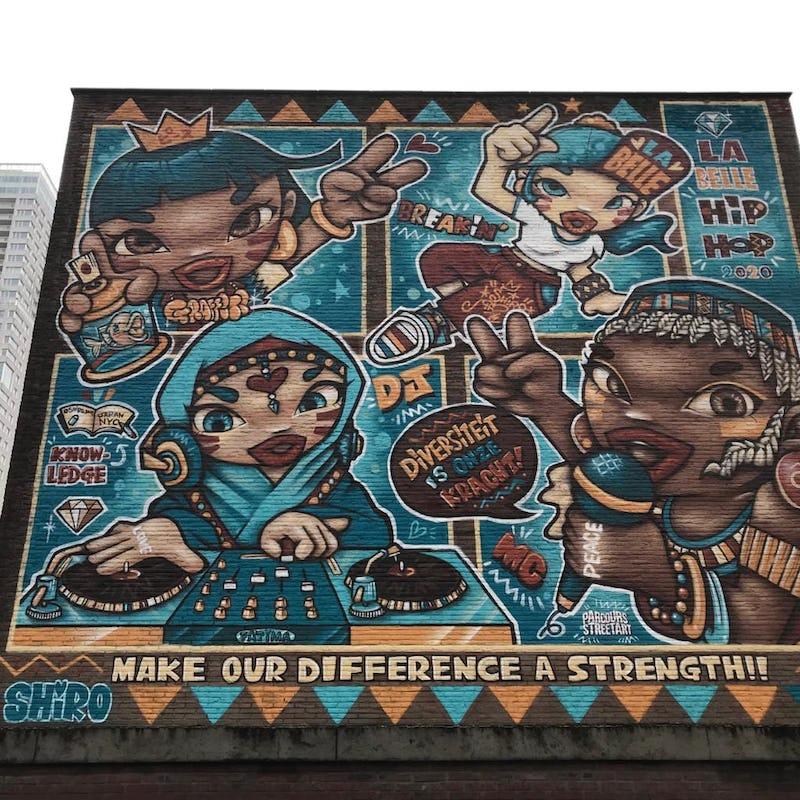 Shiro La Belle Hip Hop street art Bruxelles  - Shiro (c) Parcours street art